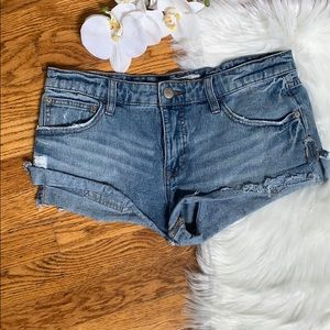 Free People mid rise denim cut off shorts
